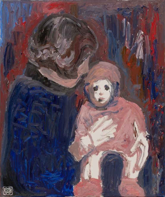Family Curses (Self Portrait with Pink Socks) | By KSH