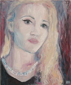 Self Portrait: Girl with Pearl Necklace
