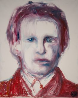 Young van Gogh, Slightly Distorted, in Psychedelic Red | By KSH