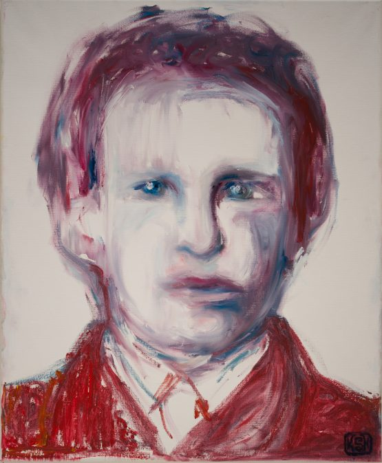 Young van Gogh, Slightly Distorted, in Psychedelic Red   By KSH
